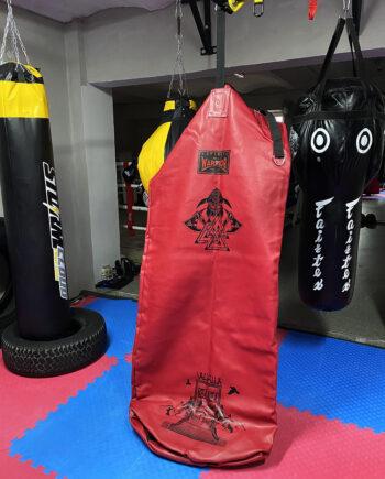 красный тяжелый напольный мешок, муай тай,бокс,spirrit of a warrior,fairtex hb7 pole bag,muay thai 10