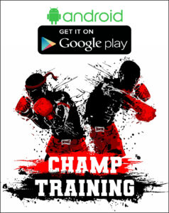 mobil app champ training boxing muay thai, тайский бокс